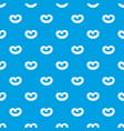 german pretzel pattern seamless blue vector image