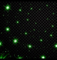 green stars black night sky on transparent vector image vector image