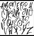 handdrawn dry brush font modern brush lettering vector image vector image