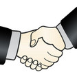 handshake sign of agreement vector image