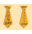 Happy Fathers Day elements Orange Tie and vector image vector image