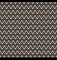 horizontal gold zigzag stripes pattern geometric vector image vector image