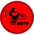 I like motorcycle vector image