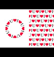 I love U Pattern and Circle vector image vector image