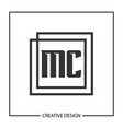 initial letter mc logo template design vector image