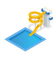 isometric colourful water slide and tubes with vector image vector image