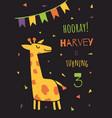 joshua giraffe vector image