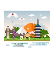 Landmarks and symbols of Japan vector image vector image