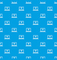 laptop with 3d design pattern seamless blue vector image vector image