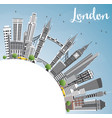 london england skyline with gray buildings blue vector image vector image