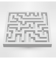 Maze labyrinth puzzle white on grey background 3D vector image