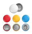 metallic round badges realistic of vector image