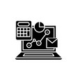 online control system black icon sign on vector image vector image