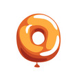 orange letter o from english alphabet in shape of vector image vector image