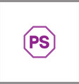p s joint letter logo creative design vector image vector image