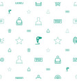 quality icons pattern seamless white background vector image vector image