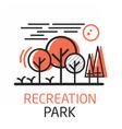 RecreationPark vector image