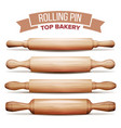 rolling pin set cooking dough equipment vector image vector image