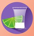 Sake glass witth lime slice vector image