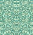 seamless floral antique pattern blue light vector image vector image