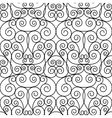 seamless forged openwork metal abstract black vector image vector image