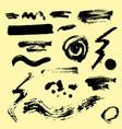 set ink splashes blots splatter vector image