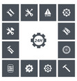 set of 13 editable tool icons includes symbols vector image
