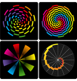 set of abstract colorful circular shapes vector image vector image