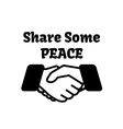 Share Some Peace Design vector image vector image