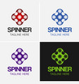 spinner logo template set 2 vector image vector image