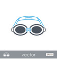 swimming goggles outline icon summer vacation vector image