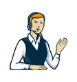 Telemarketer Call Center Operator Retro