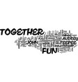 ten tips to play together and stay together text vector image vector image