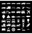 Transport icons concept for vector image vector image