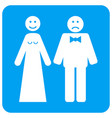 wedding emotions rounded square icon vector image vector image