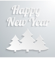 white paper christmas tree on background vector image vector image