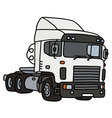White towing truck vector image vector image