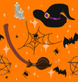 wicca witchcraft halloween seamless pattern vector image vector image