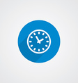 Flat Blue Time Icon vector image