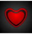 Abstract Valentine background with heart vector image