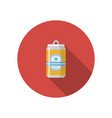 beer can flat style icon vector image