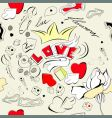 doodle style seamless wallpaper vector image