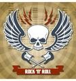 Retro rock background vector image