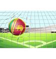 a ball with flag sri lanka vector image vector image