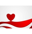 Abstract Valentine background with heart vector image vector image