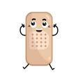 adhesive bandage cute cartoon character vector image vector image