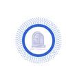 ai brain future intelligence machine glyph icon vector image vector image