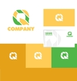 Alphabet letter q logo icon set