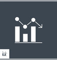 bar chart related glyph icon vector image vector image