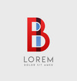 bi logo letters with blue and red gradation vector image vector image